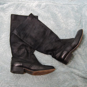 {Diesel Style Lab} Black Leather Riding Boots